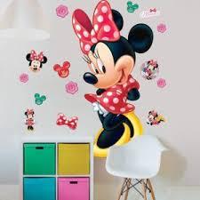 chambre minnie mouse comforium kit autocollants amovibles disney minnie mouse pour
