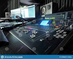 Download Sound Recording Studio With Music Equipment Stock Photo