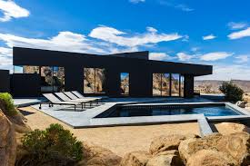 The Black Desert House By Marc Atlan + Oller & Pejic | IGNANT.com The Glitz And Glamour Of Vegas Is Alive In The Tresarca House Marmol Radziner Desert Home Design Concrete Glass Steel Structure Hovers Above Arizona Desert This Modern Oasis By Hazelbaker Rush Perched On A Modern Kit Homes For Small Adobe Plans Types Landscaping Ideas Hgtv Wing Kendle Archdaily Minecraft Project Pinterest Sale Renowned Architect