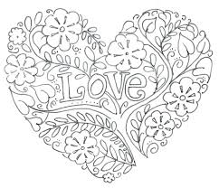 Cute Love Coloring Pages Printable Heart Colouring Pictures Full Size