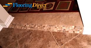 ceramic tile installation with mosaic transitions flooring direct