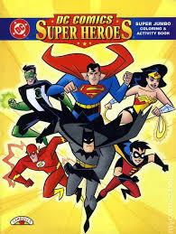 DC Comics Super Heroes Coloring Book SC 1998 1 1ST