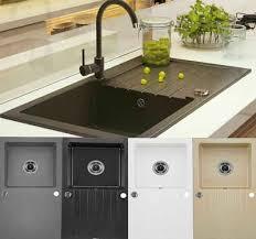 homeline granitspüle granitspüle küchenspüle granit siphon einbauspüle spülbecken spüle granit bis zu 280 grad hitze rechteckig