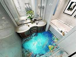 wxlsl 3d tapete bad 3d bodenfliesen ozean selbstklebende