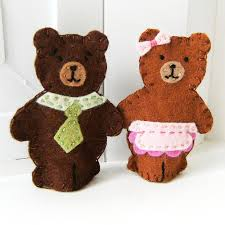 Papa And Mama Bear Finger Puppets