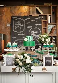 Wedding Table Decorating Dessert Buffet Decor In Green
