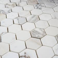 calacatta gold hexagon 50mm designer marble