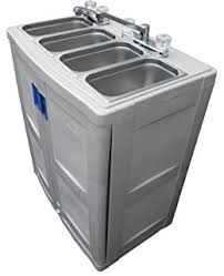 amazon com portable sink self contained hand wash station with