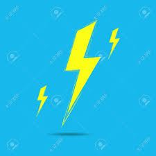 Lightning Bolt On Blue Background Royalty Free Cliparts Vectors