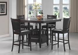 Jaden Cappuccino Counter Height Table W 4 Bar Stools