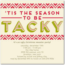 Party Invitation Template Ugly Sweater Christmas Invitations For Well Solutions In Of Glamorous