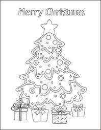 Christmas Tree Coloring Pages Free Sheets