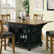 Retro Kitchen Chairs Walmart by Wood Cotton Solid Black Oak Kitchen Island Table With Chairs
