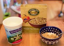 Pumpkin Flaxseed Granola Nutrition Info by Nature U0027s Path Granola U003d Quick Delicious Healthy Breakfast