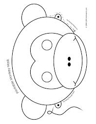 Printable Monkey Mask Color
