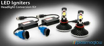 igniters led headlight conversion kit plasmaglow