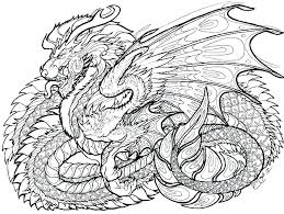 Dragon Coloring Pages Free Printable Realistic For Pr Cute Chinese