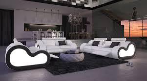 canapé cuir mobilier de salon cuir design fashion designs