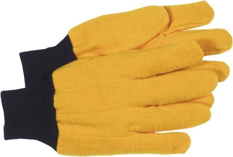 Boss 4037 Glove Napped Chore - Yellow, Large