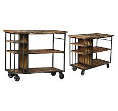 Burnley Reclaimed Wood And Metal Kitchen Island Trolley