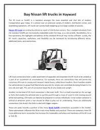 100 Nissan Lift Trucks PPT Buy Lift Trucks In Hayward Big Joe Lift PowerPoint