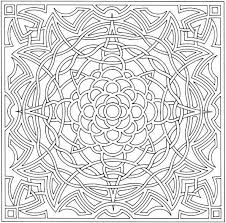 Abstract Geometric Coloring Pages To Print