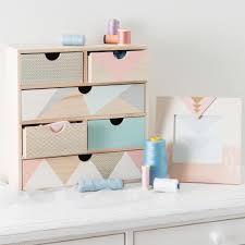 boite a tiroirs en bois boîte 6 tiroirs en bois h 34 cm anja maisons du monde deco