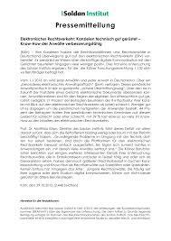 Brak Mitteilungen Pressemitteilung Des Soldan Instituts