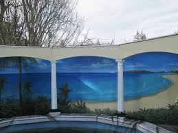 Wall Mural Decals Beach by Outdoor Murals Dress Up Sheds Garages And Blank Walls Plus Seven