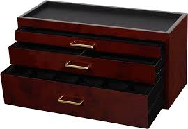 Dresser Valet Watch Box by Wolf Watch Storage Box Burlwood 461010