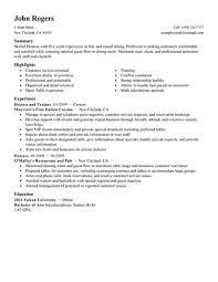 Breakupus Winning Resume Examples Cv With Hot Template Net Sample Waitress Description