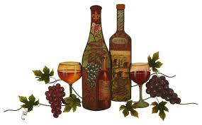 Grape Wall Decor For Kitchen by Metal Wall Art Statue Vintage Bottle Glassware Grape Vine Kitchen