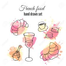Pastry Food Pencil And In Color French Clipart Croissant