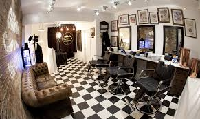 barber shop with black and white floor tiles barber pinterest