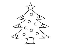 Kindergarten Christmas Tree Coloring Pages