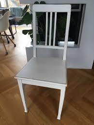 vintage esszimmer stuhl in weiß shabby chic