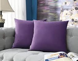 comfortland samt kissenbezug 45x45cm 2 set sanft einfarbige moderne quadratische kissen hülle zierkissenbezüge für weihnachten deko wohnzimmer