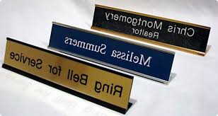 Traditional Desk Name Plates