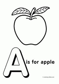 Letter A Coloring Pages Alphabet Words For Kids