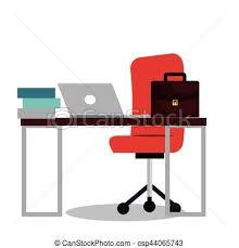 icone bureau lieu travail bureau icône travail bureau illustration