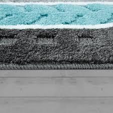 vorleger matten 3 d look in grau blau badematte kurzflor