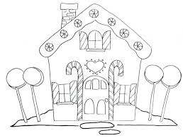 Coloring Pages Gingerbread House To Print Sheets Free Printable Book