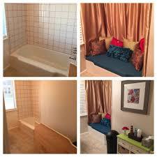 Tiling A Bathtub Area by Converted An Unused Bathtub Into A Sitting Area Places U0026 Spaces