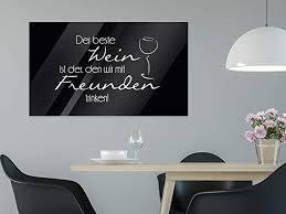 grazdesign wandbilder glas küche spruch glas bilder spruch