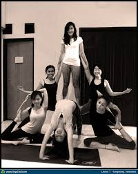 Acro Partner Yoga Taken In Tangerang Indonesia By Lavina Taurina