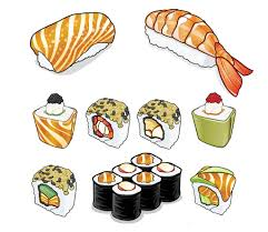 Sushi Illustrations RPGdesign Tags Food Fish Illustration Japanese Design Salmon Vegetarian Vector