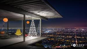 The Modern Christmas Tree Company Just Did A Photo Shoot In Iconic Stahl House