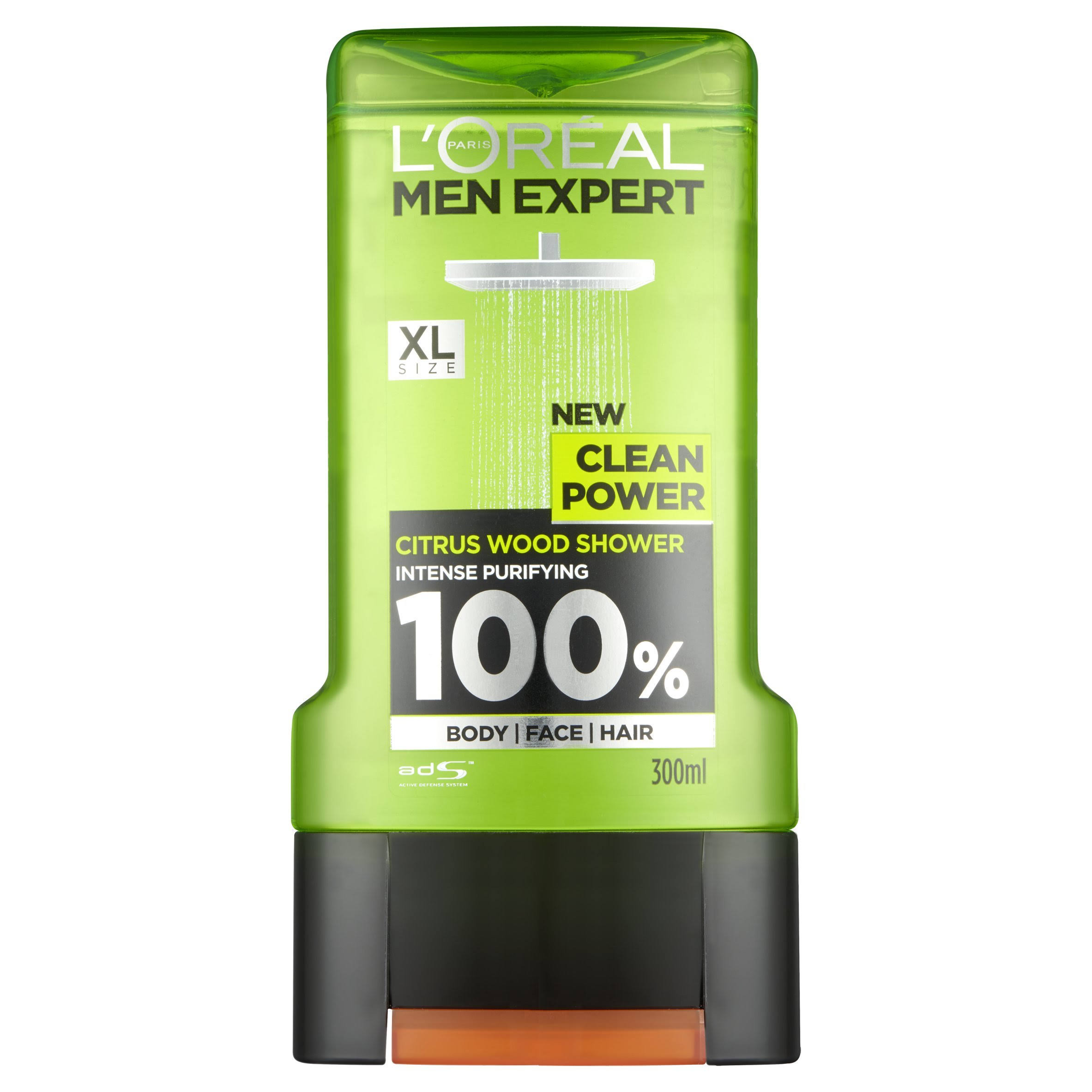 L'Oreal Men Expert Clean Power Shower Gel - Citrus Wood, 300ml