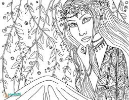 Fairy Free Printable Adult Coloring Pages