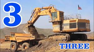 100 Dump Trucks Videos Excavators Teaching Numbers 1 To 10 Learning To